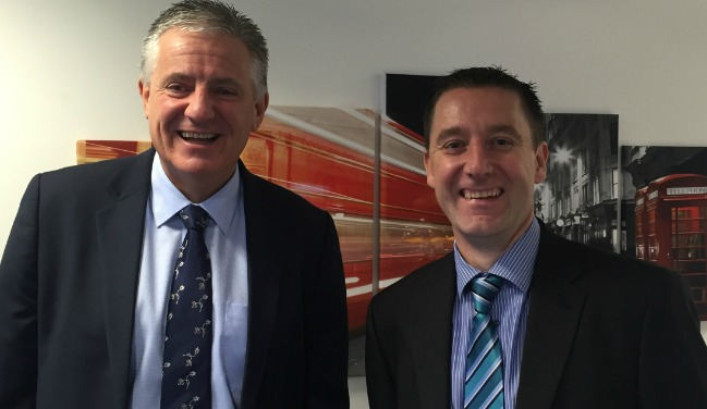 Guy Wadsworth, Mistral Asset Finance's Chief Operating Officer (left) with new appointment John Green, Regional Sales Manager.