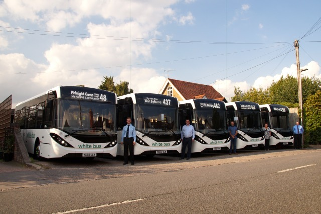 Mistral Bus & Coach deliver five new buses to White Bus Service