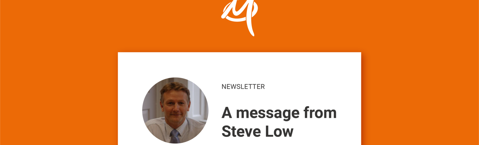 A message from Steve Low