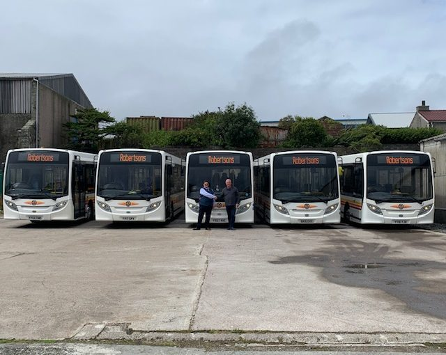 5 Enviro200's taken by Shetland Islands based R Robertson & Son Ltd