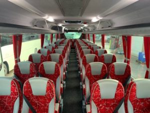Interior of B8R Plaxton Panther Coach for Sale