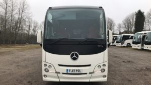 Front View of the Plaxton Cheetah XL Coach for Sale
