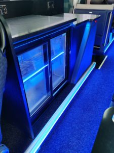 Servery area inside luxury Neoplan Tourliner P20